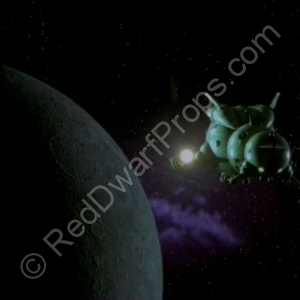 starbug flying away from moon