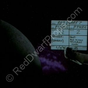 starbug flying towards moon clapperboard