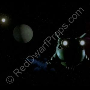 starbug flying towards moon